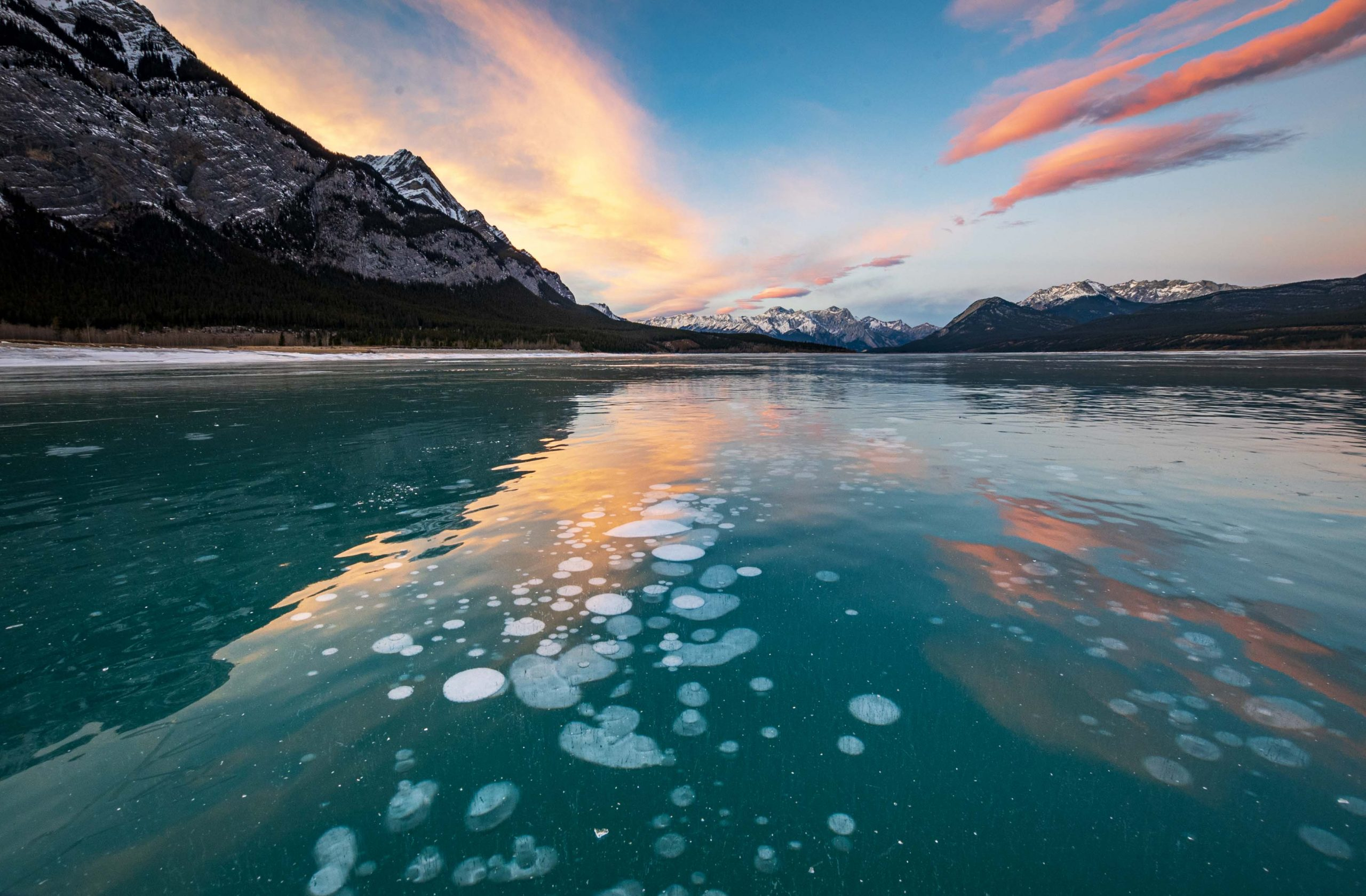 Abraham Lake Ice Conditions – December 4 2020