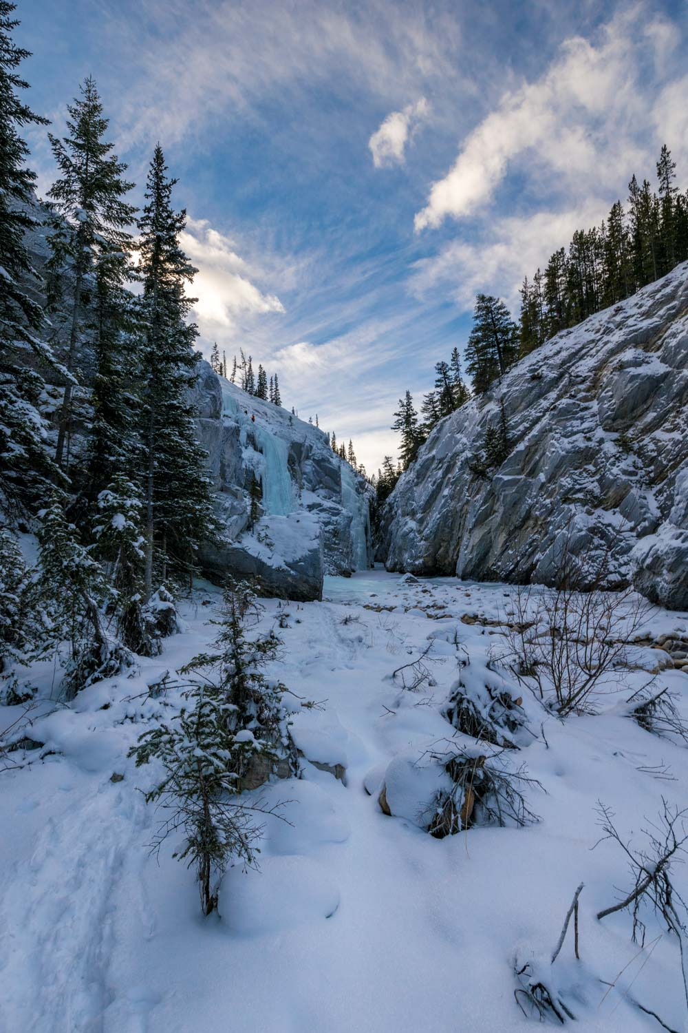 Icefalls in the Cline River Canyon