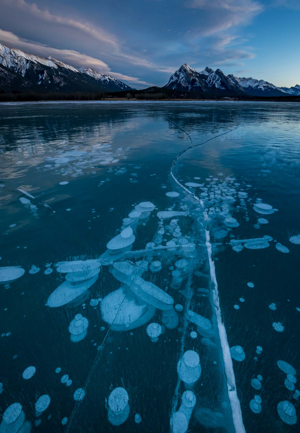 Abraham Lake Ice Bubbles - Preacher's Point