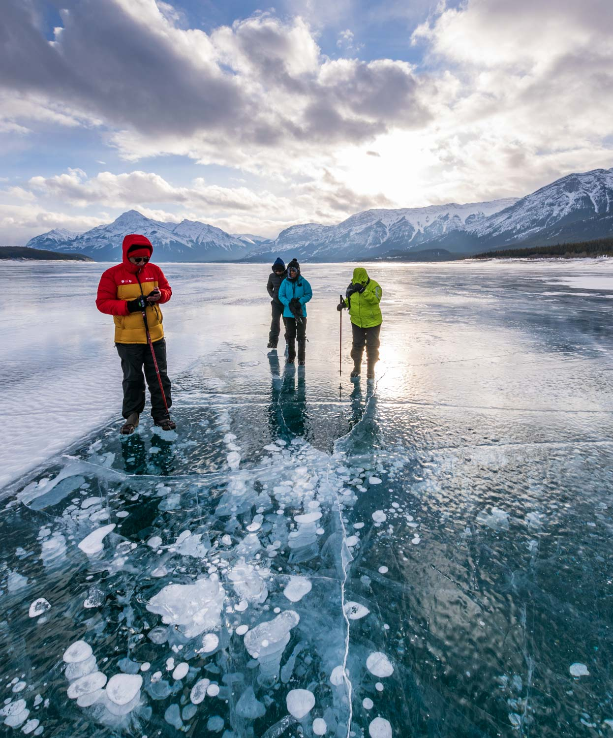 Abraham Lake Ice Walk