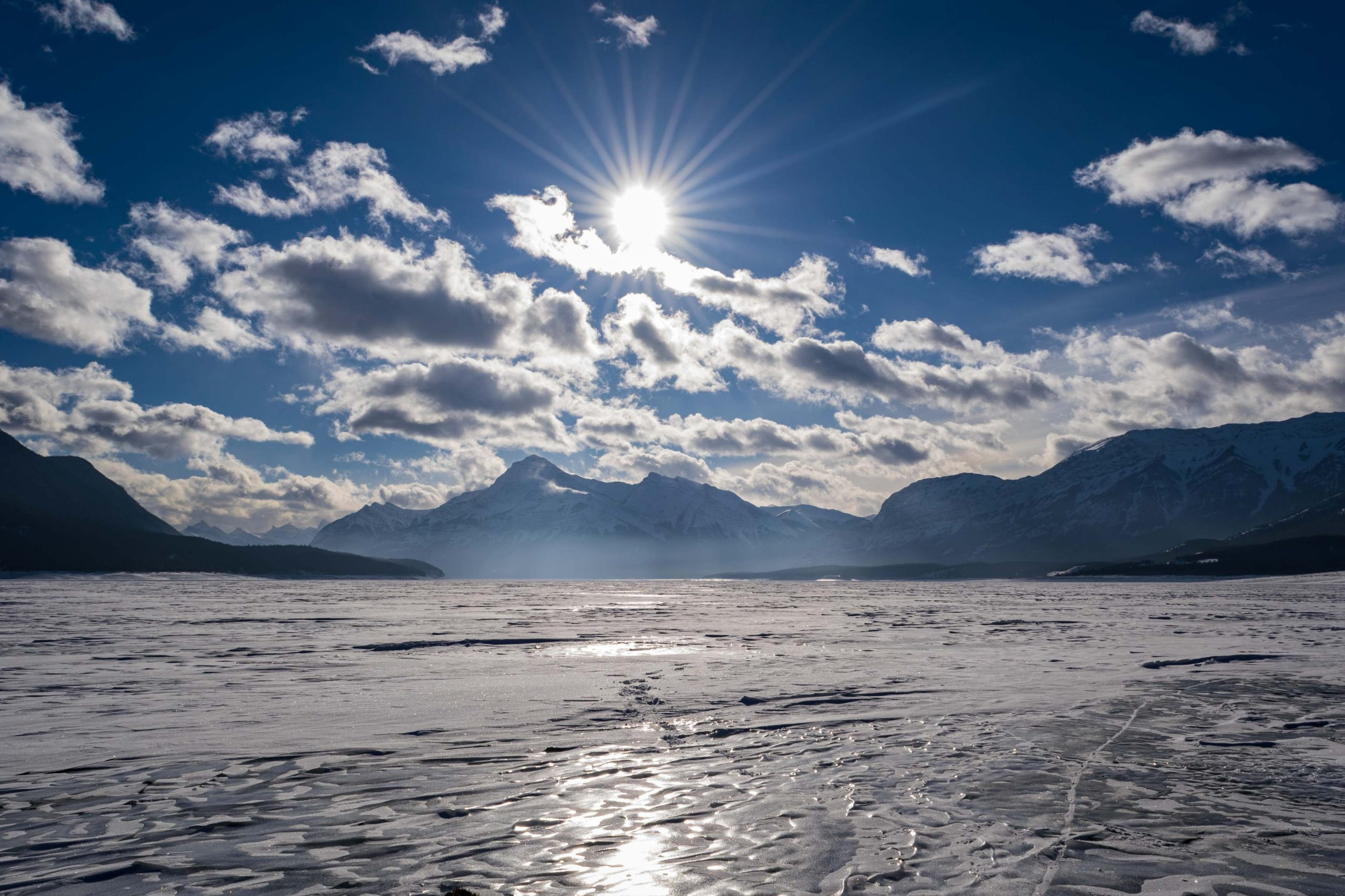 Abraham Lake Ice Conditions – February 3, 2021
